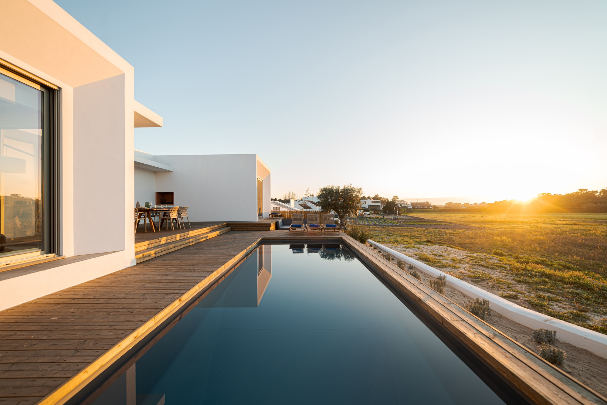 Modern villa with pool and deck